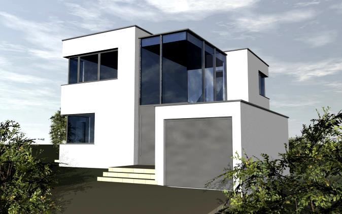 Wohnhaus heilbronn holz alu glasfassade for Wohnhaus bauen