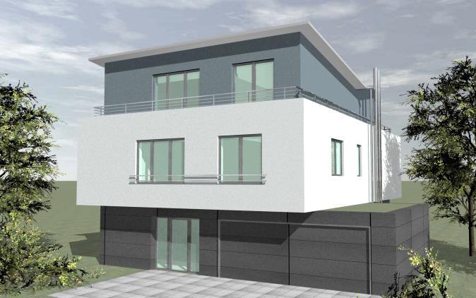 Wohnhaus sandhausen schmetterlingsdach for Wohnhaus bauen